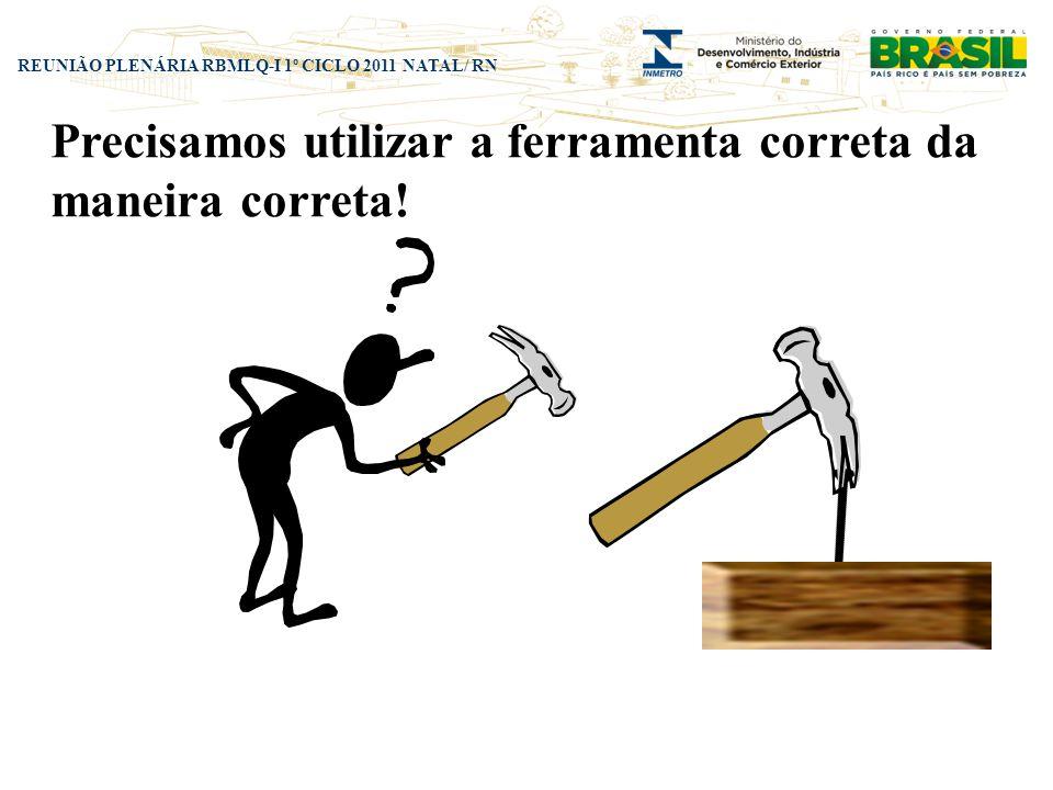 Precisamos utilizar a ferramenta correta da maneira correta!