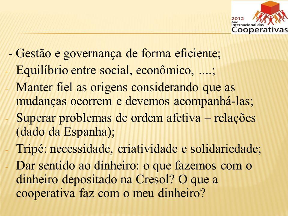 - Gestão e governança de forma eficiente;