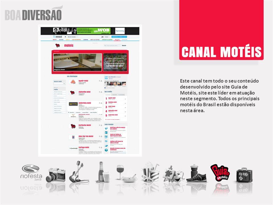 Este canal tem todo o seu conteúdo desenvolvido pelo site Guia de Motéis, site este líder em atuação neste segmento. Todos os principais motéis do Brasil estão disponíveis nesta área.