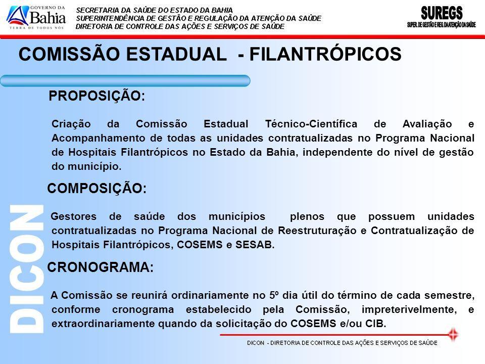 COMISSÃO ESTADUAL - FILANTRÓPICOS
