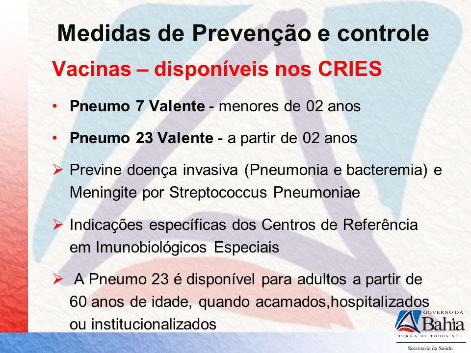 Medidas de Prevenção e controle