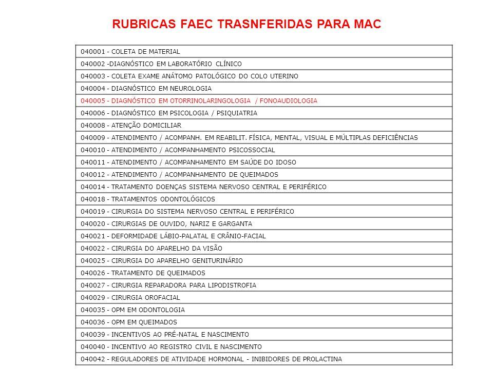 RUBRICAS FAEC TRASNFERIDAS PARA MAC