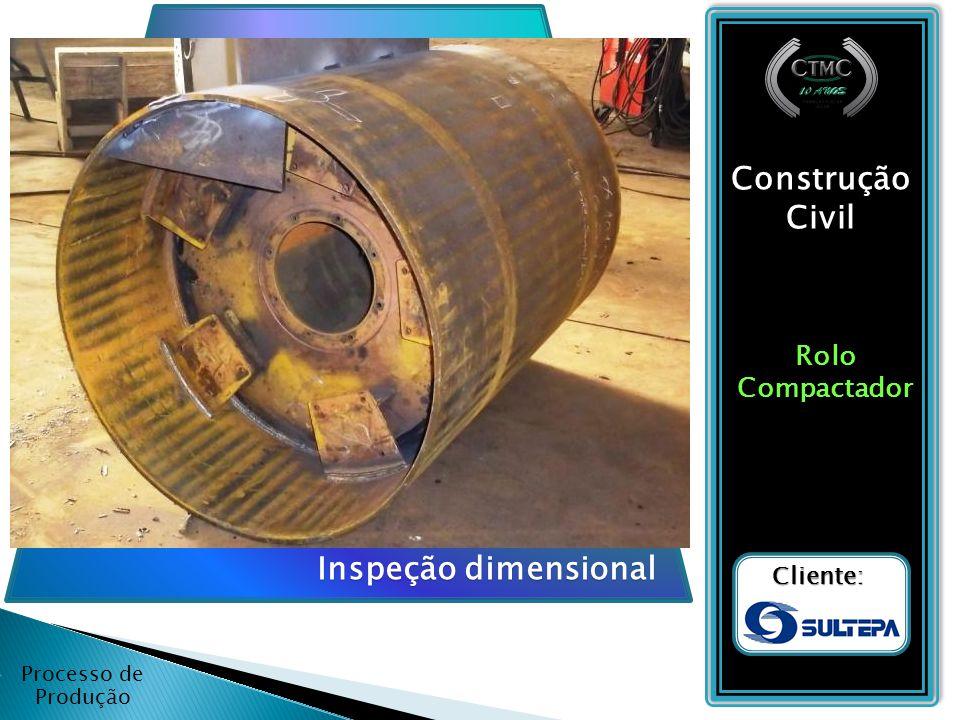 Construção Civil Inspeção dimensional Rolo Compactador Cliente: