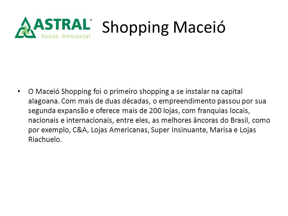 Shopping Maceió