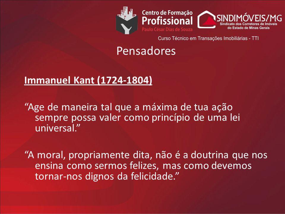Pensadores Immanuel Kant (1724-1804)
