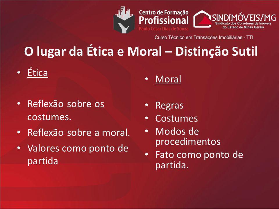 O lugar da Ética e Moral – Distinção Sutil