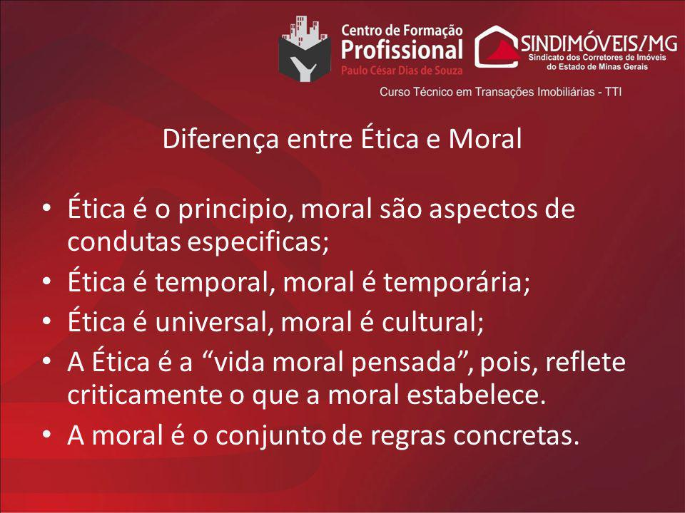 Diferença entre Ética e Moral