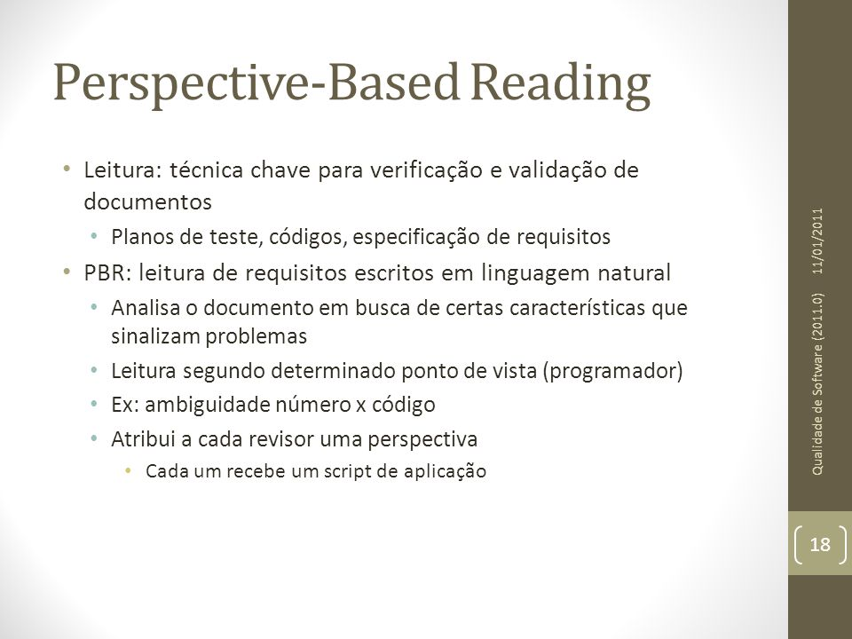 Perspective-Based Reading
