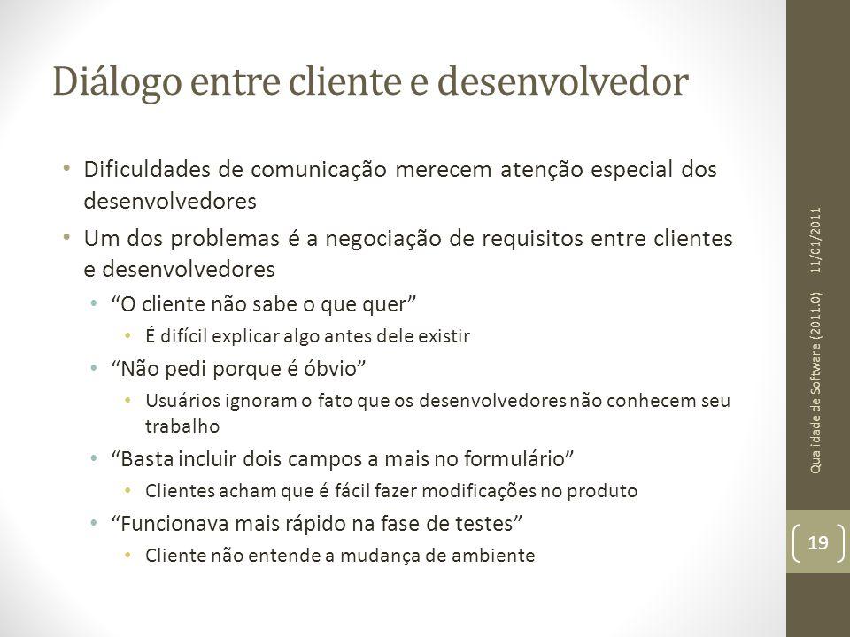 Diálogo entre cliente e desenvolvedor