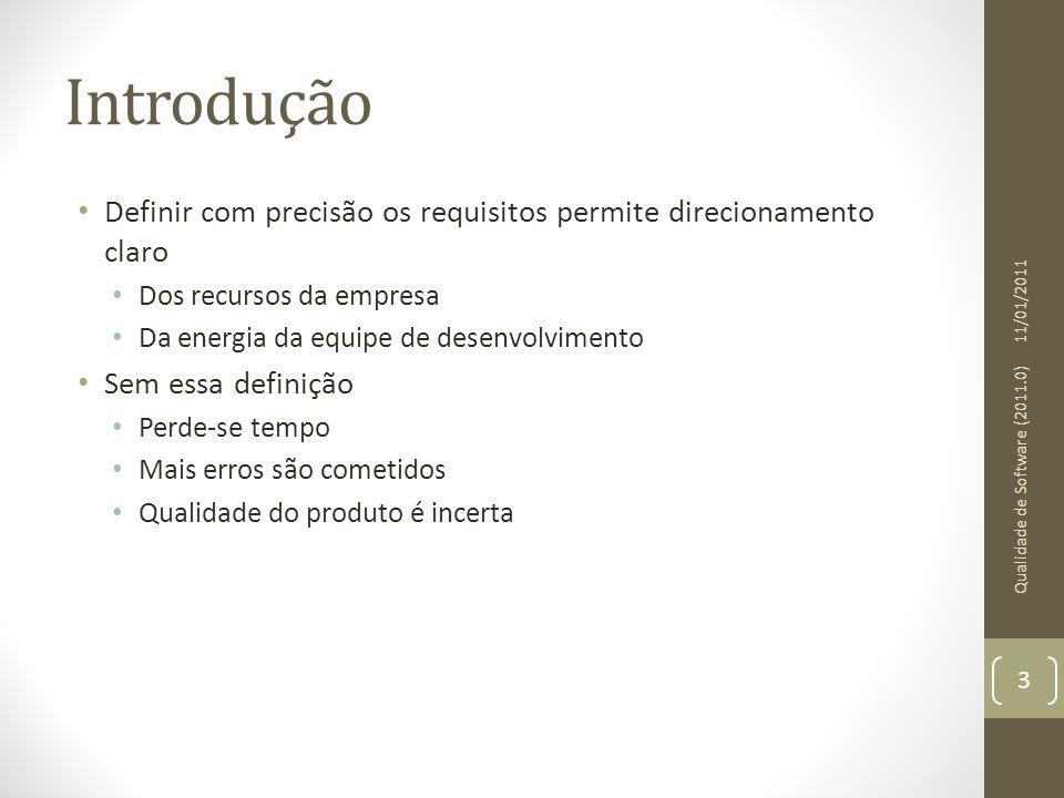 Introdução Definir com precisão os requisitos permite direcionamento claro. Dos recursos da empresa.