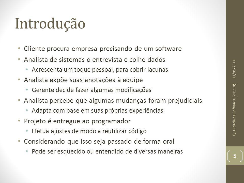 Introdução Cliente procura empresa precisando de um software