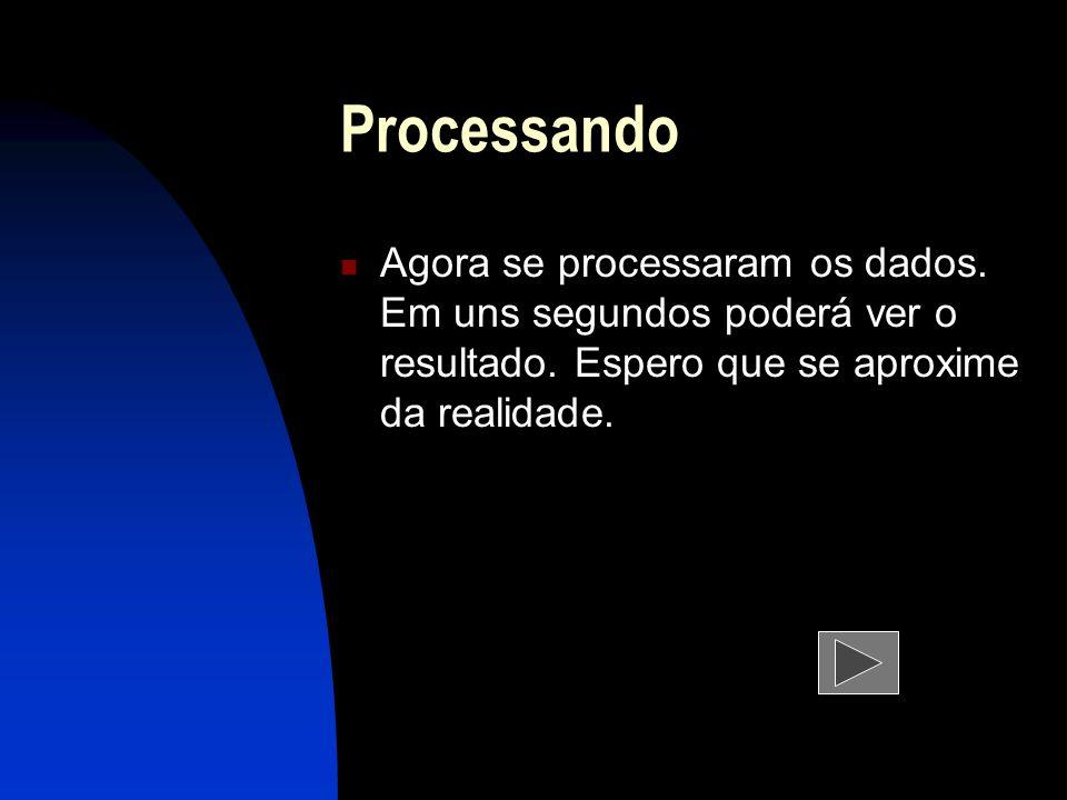 Processando Agora se processaram os dados. Em uns segundos poderá ver o resultado.