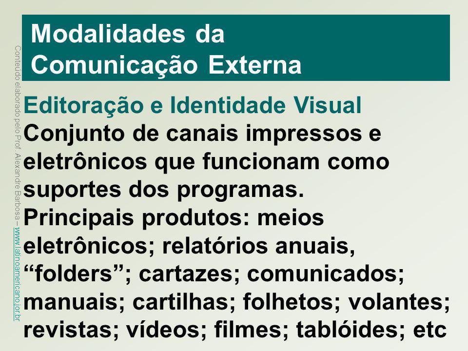 Modalidades da Comunicação Externa