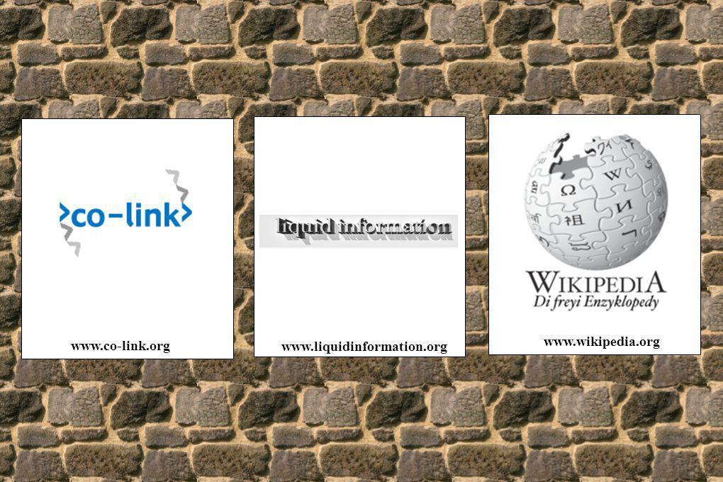 www.wikipedia.org www.co-link.org www.liquidinformation.org