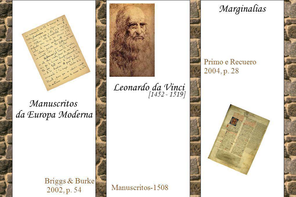 Marginalias Leonardo da Vinci Manuscritos da Europa Moderna