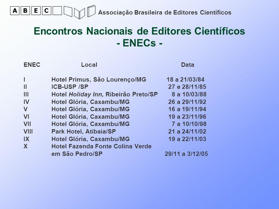 Encontros Nacionais de Editores Científicos - ENECs -