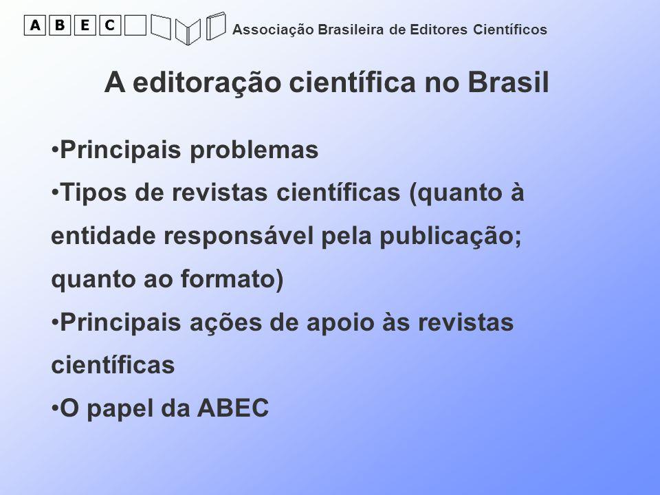 A editoração científica no Brasil