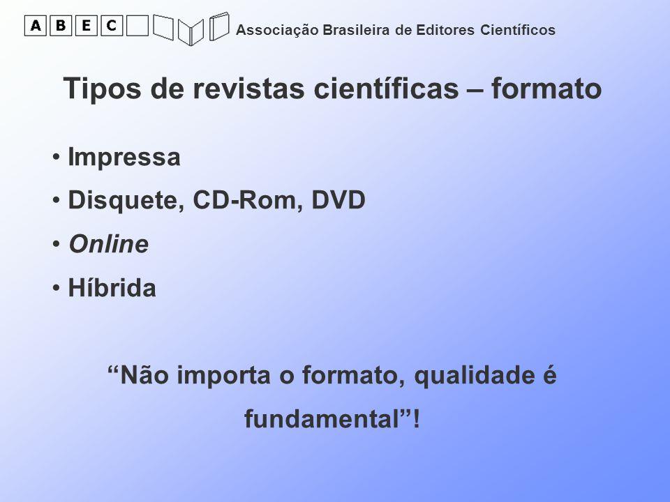 Tipos de revistas científicas – formato