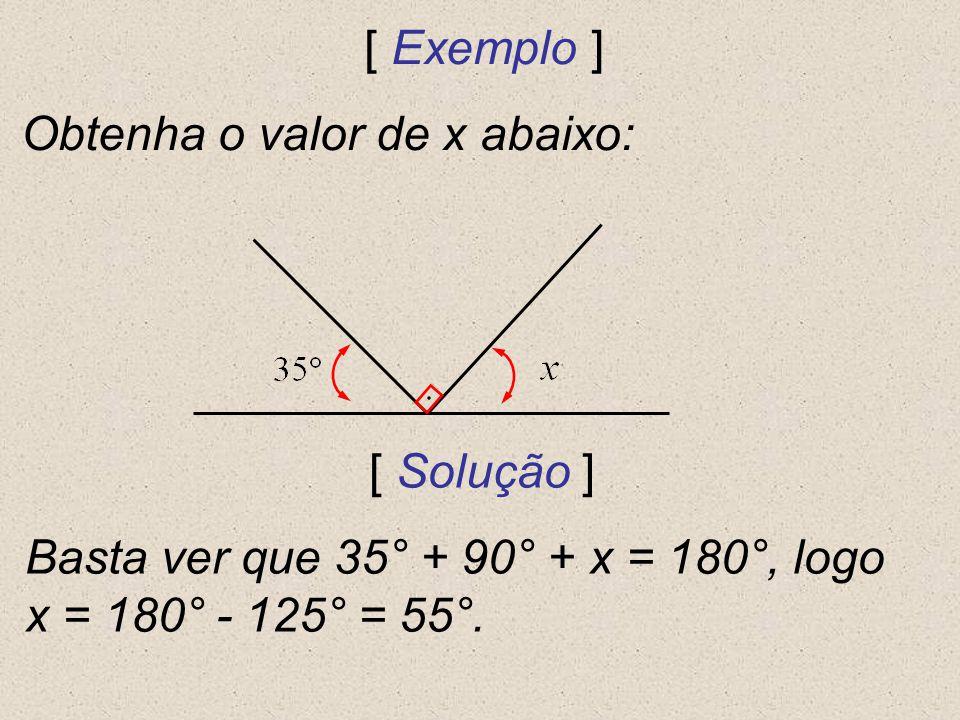 Obtenha o valor de x abaixo: