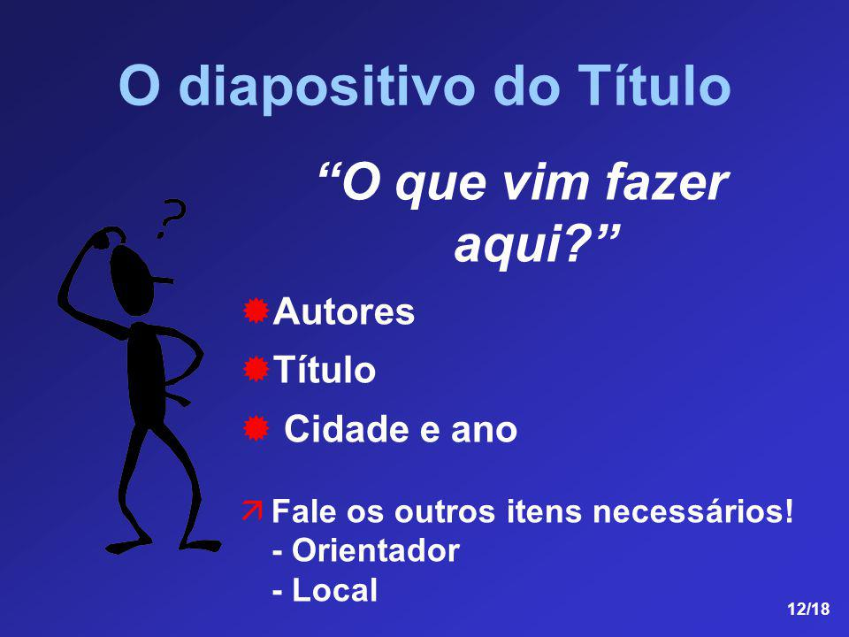O diapositivo do Título