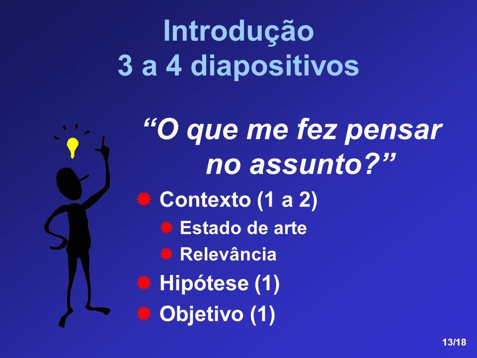 Introdução 3 a 4 diapositivos