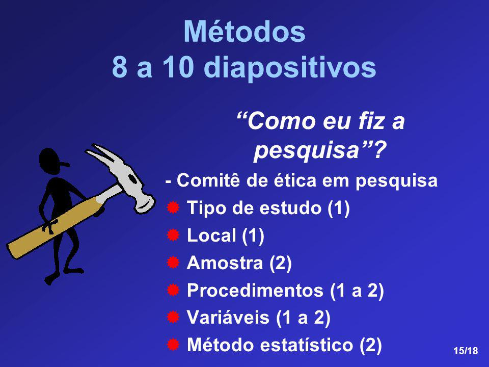 Métodos 8 a 10 diapositivos