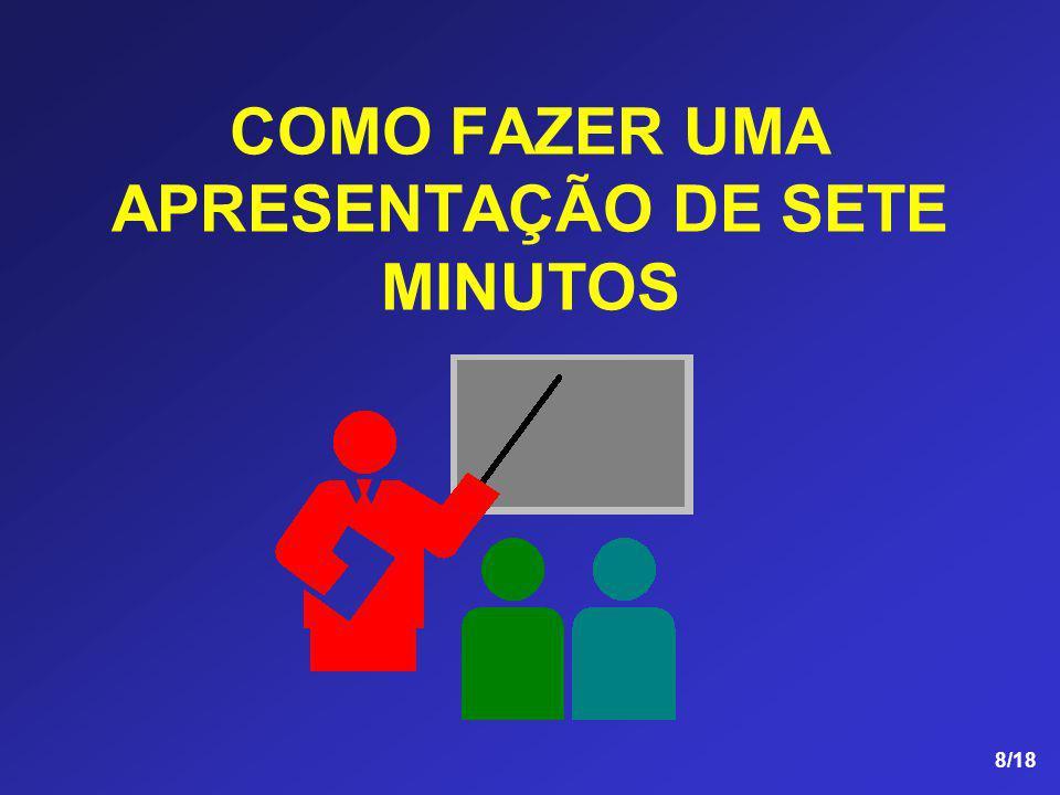 COMO FAZER UMA APRESENTAÇÃO DE SETE MINUTOS