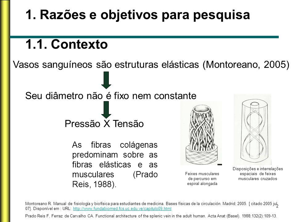 1. Razões e objetivos para pesquisa