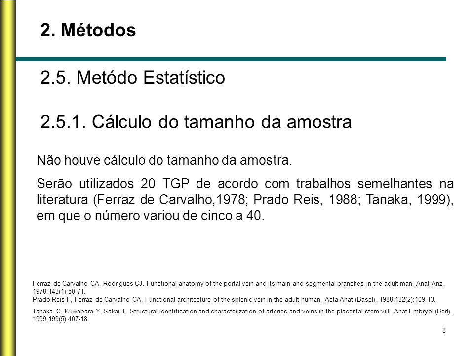 2.5.1. Cálculo do tamanho da amostra