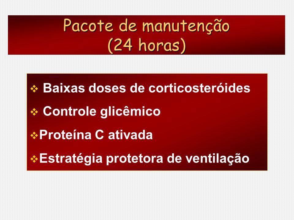 Pacote de manutenção (24 horas) Baixas doses de corticosteróides