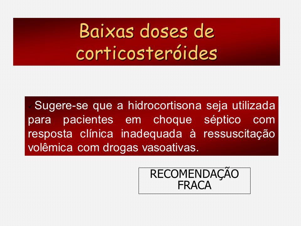 Baixas doses de corticosteróides