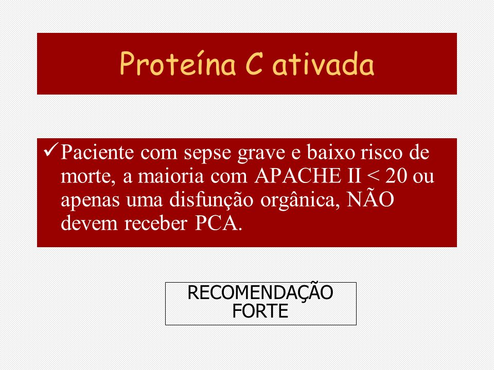 Proteína C ativada