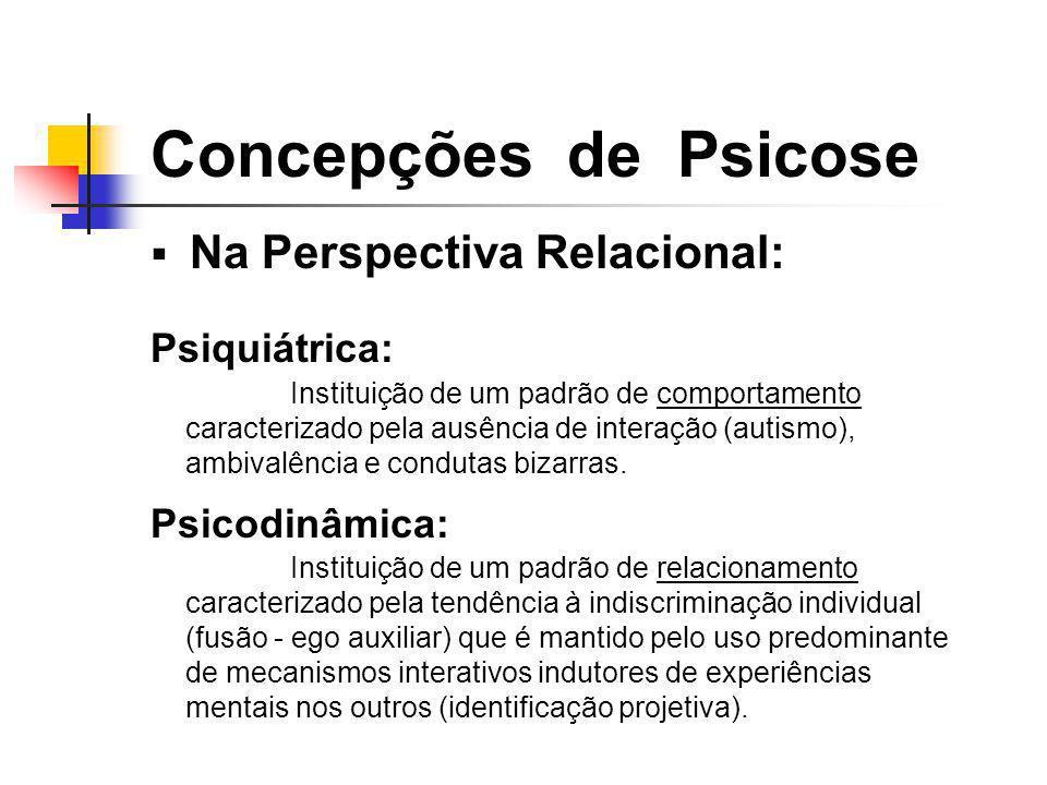 Concepções de Psicose Na Perspectiva Relacional: Psiquiátrica: