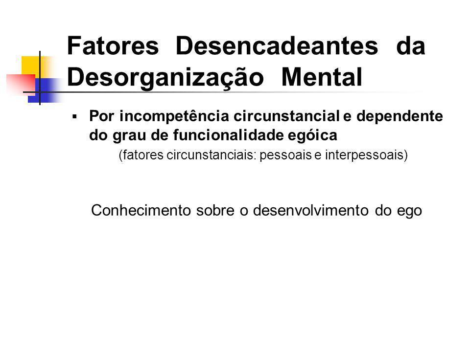 Fatores Desencadeantes da Desorganização Mental