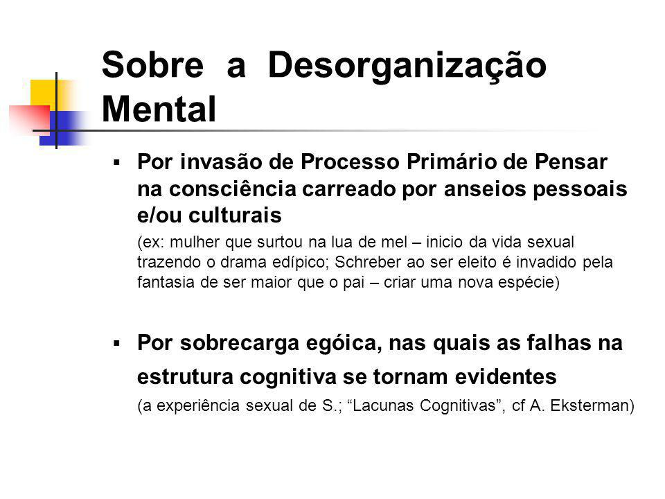 Sobre a Desorganização Mental
