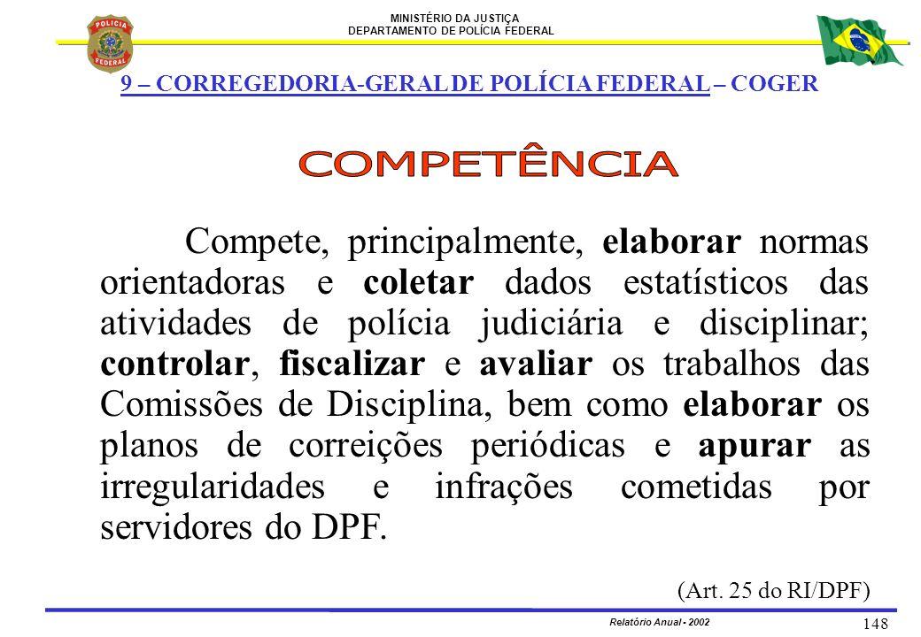 9 – CORREGEDORIA-GERAL DE POLÍCIA FEDERAL – COGER