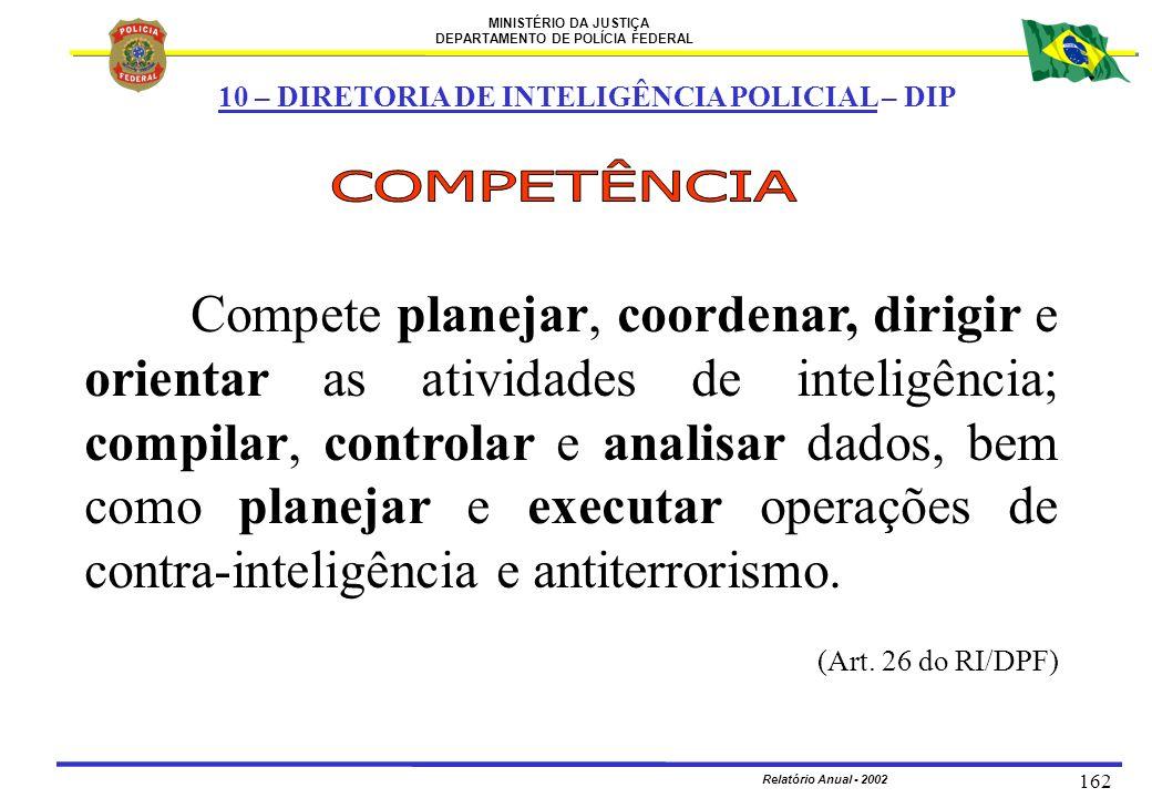 10 – DIRETORIA DE INTELIGÊNCIA POLICIAL – DIP