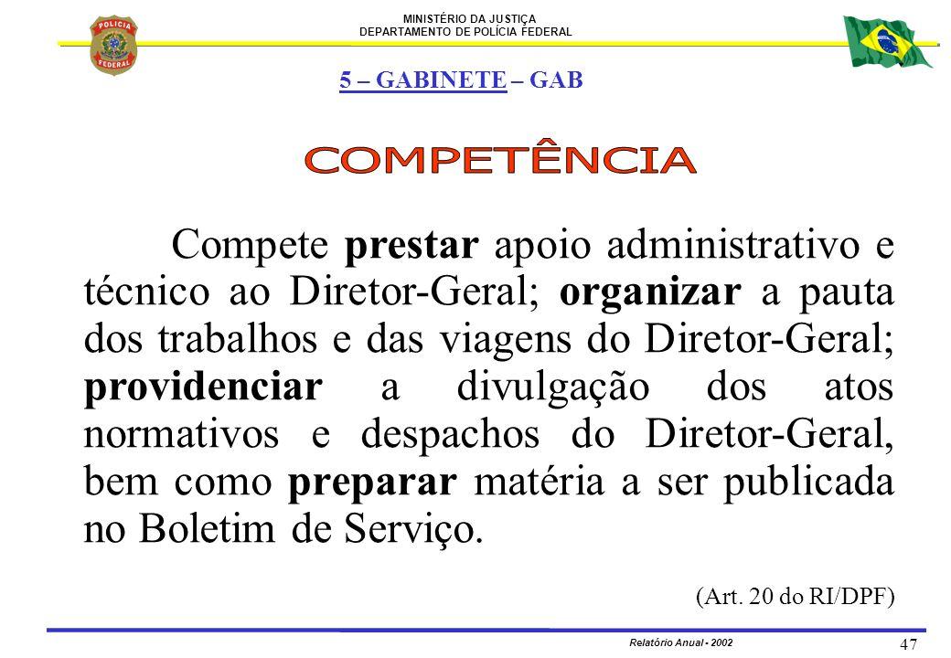 5 – GABINETE – GAB COMPETÊNCIA.