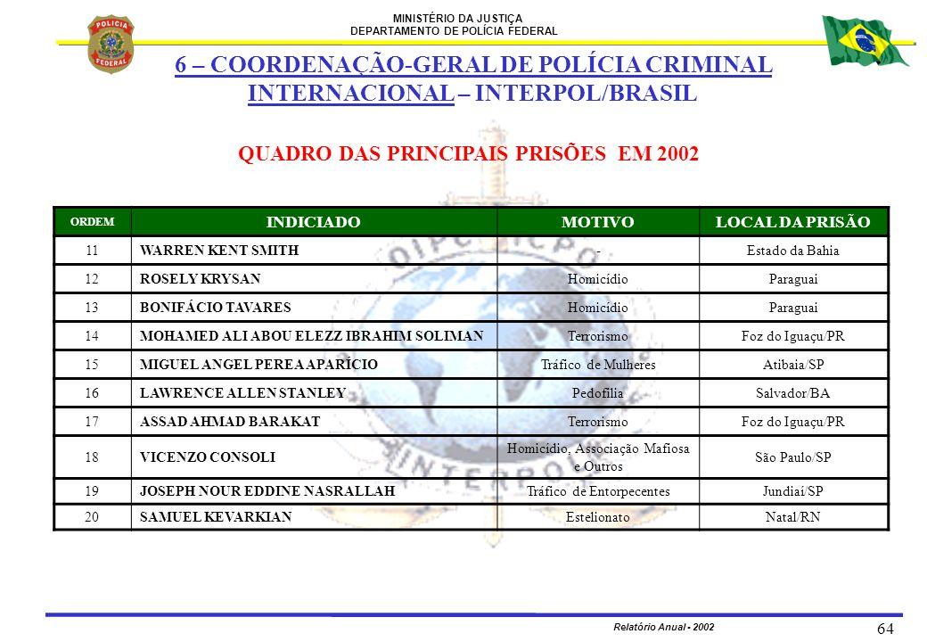 6 – COORDENAÇÃO-GERAL DE POLÍCIA CRIMINAL INTERNACIONAL – INTERPOL/BRASIL