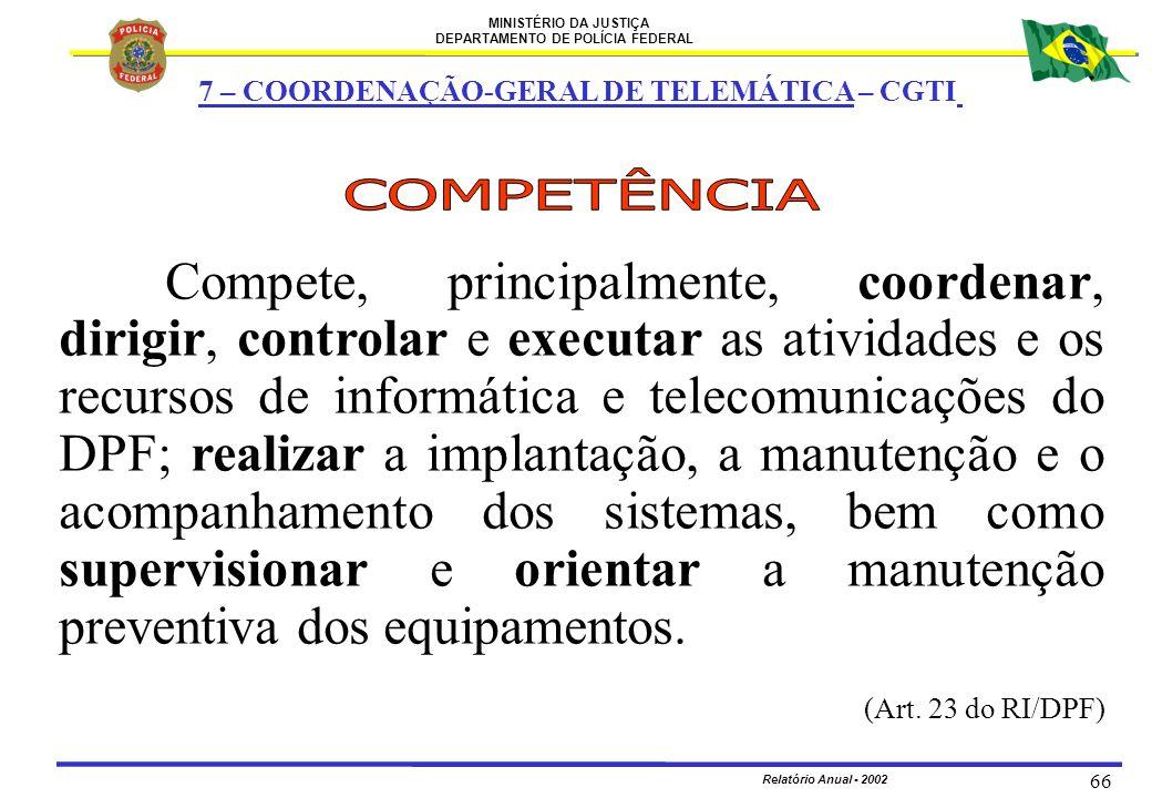 7 – COORDENAÇÃO-GERAL DE TELEMÁTICA – CGTI