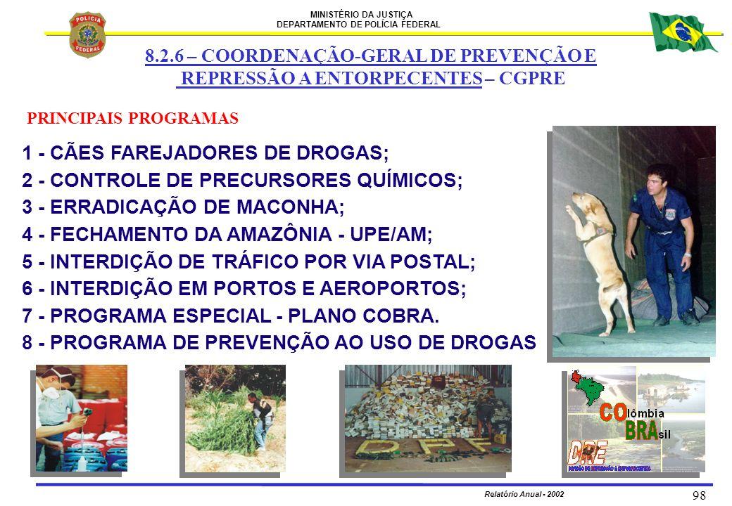 8.2.6 – COORDENAÇÃO-GERAL DE PREVENÇÃO E