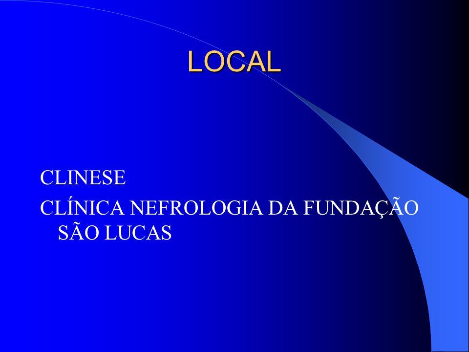 LOCAL CLINESE CLÍNICA NEFROLOGIA DA FUNDAÇÃO SÃO LUCAS