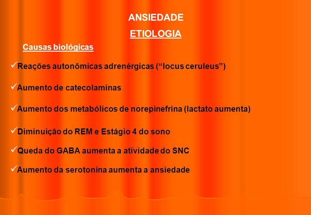 ANSIEDADE ETIOLOGIA Causas biológicas