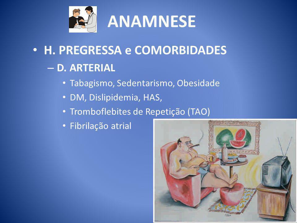 ANAMNESE H. PREGRESSA e COMORBIDADES D. ARTERIAL