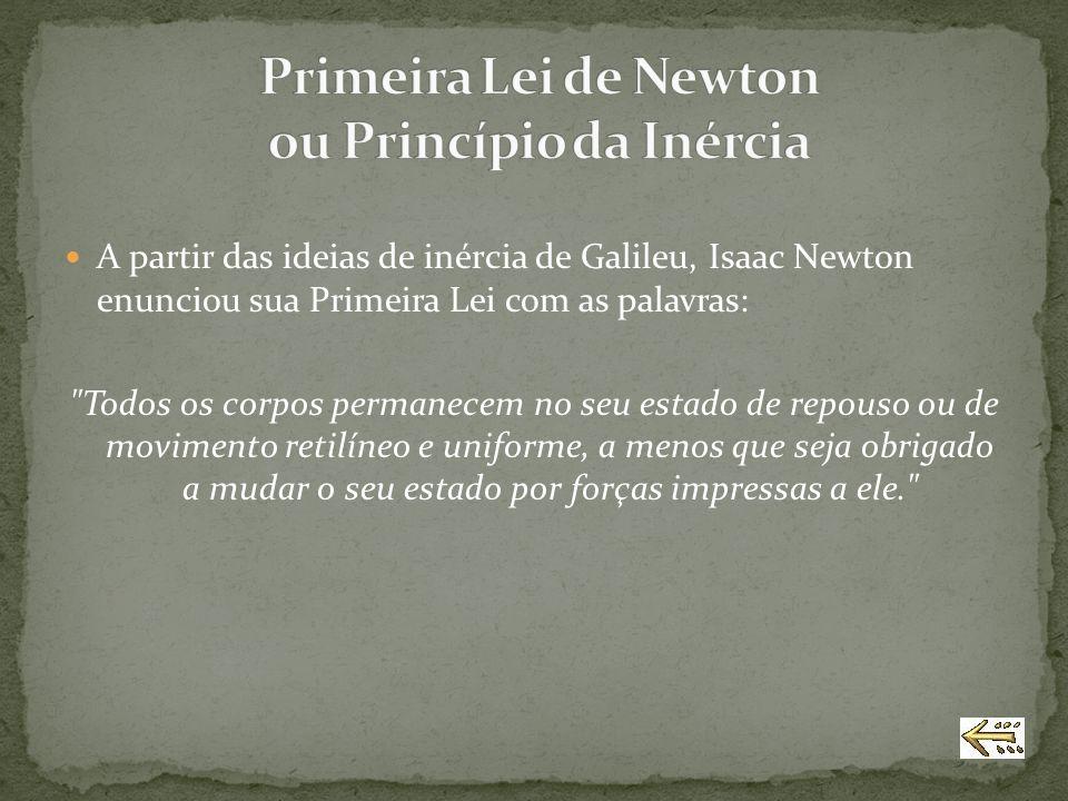 Primeira Lei de Newton ou Princípio da Inércia