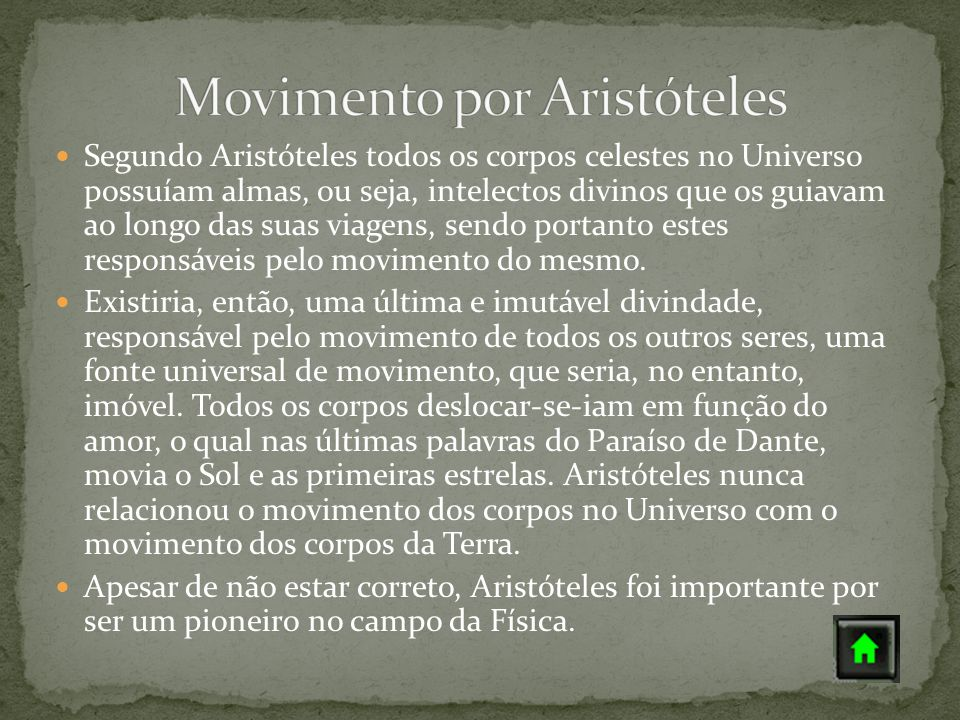 Movimento por Aristóteles