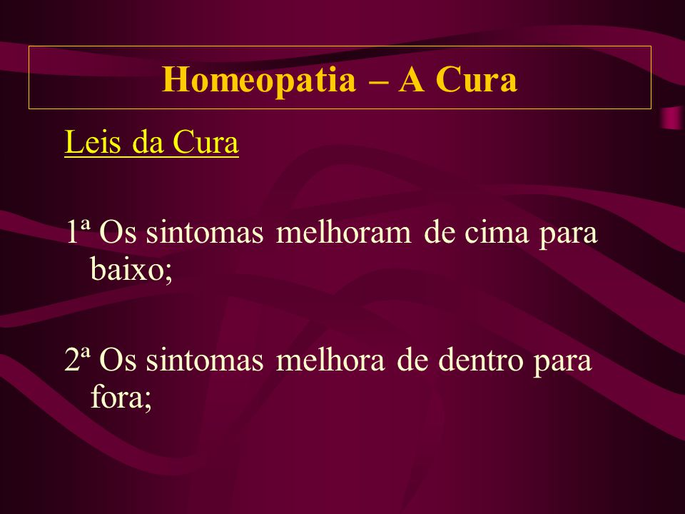 Homeopatia – A Cura Leis da Cura