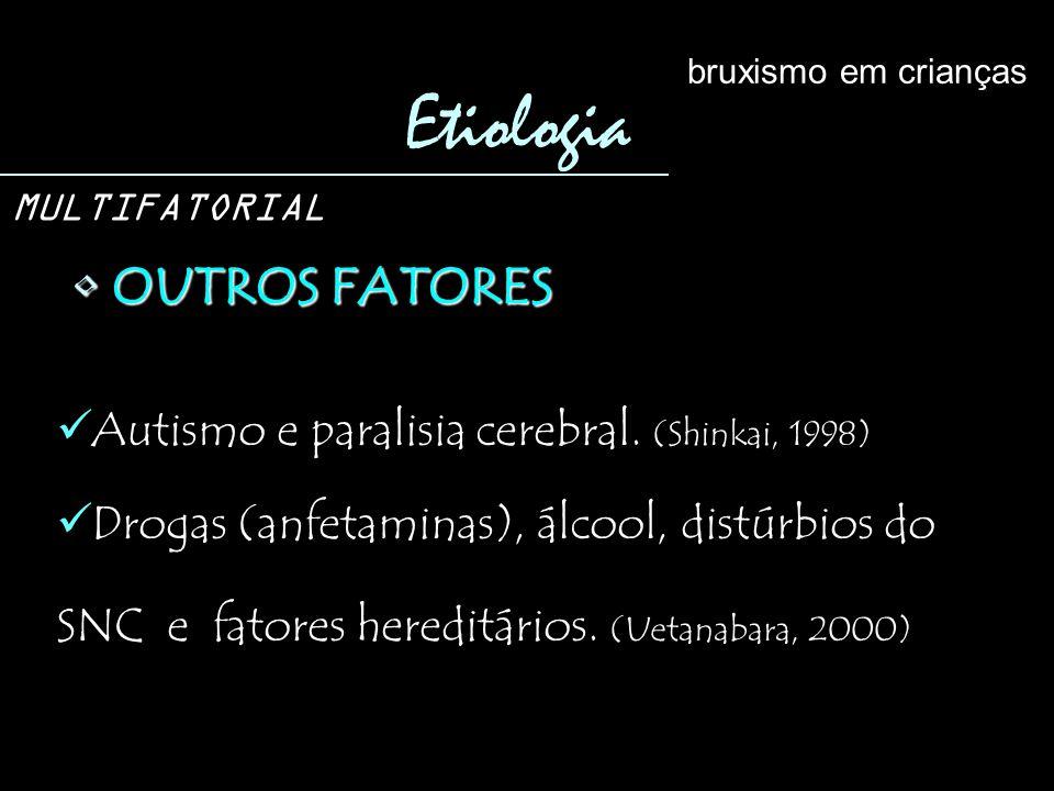 Etiologia OUTROS FATORES Autismo e paralisia cerebral. (Shinkai, 1998)