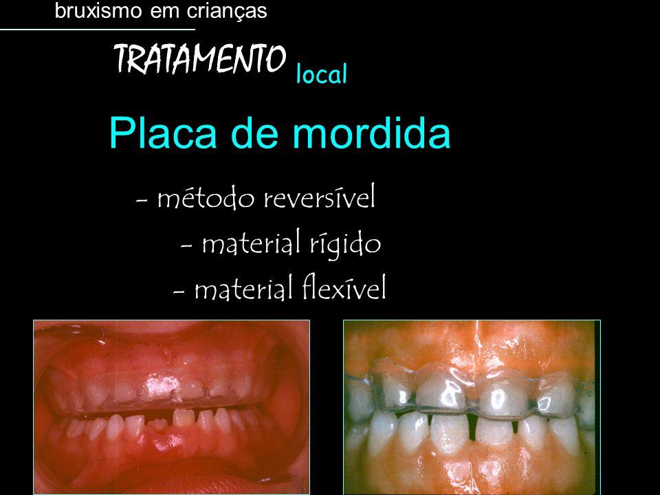 Placa de mordida TRATAMENTO - método reversível - material rígido