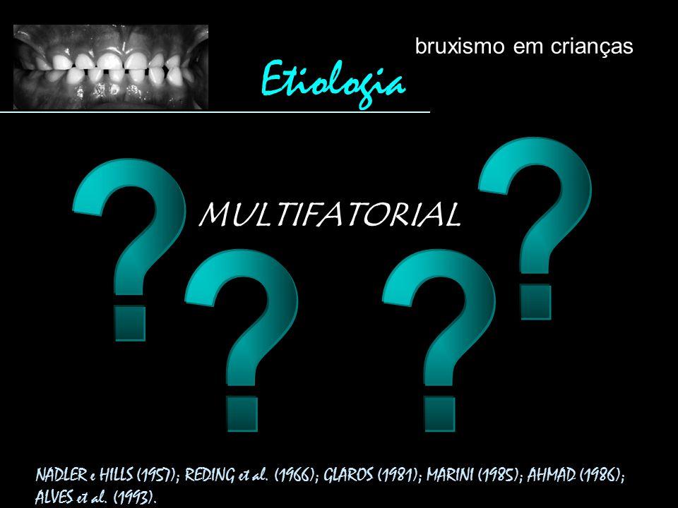Etiologia MULTIFATORIAL bruxismo em crianças